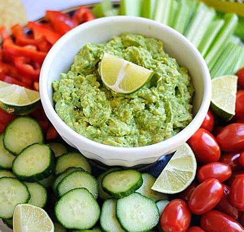 Grønsager-med-Avocado-Dip